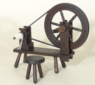 1/12th Scale 18c Spinning wheel