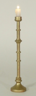 1/12th Scale Tall Church Candle Antique